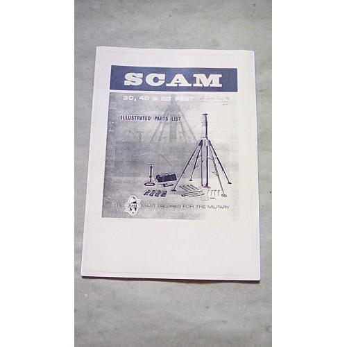 CLARK SCAM MAST ILLUSTRATED PARTS CATALOGUE 30 40 50 FT